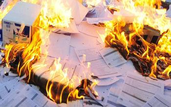 Уничтожение секретных архивных документов